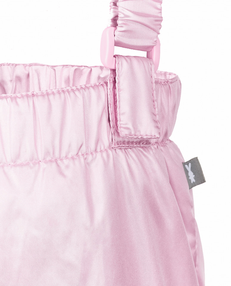Розовые утепленные демисезонные брюки