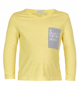 Желтая футболка с длинным рукавом OUTLET