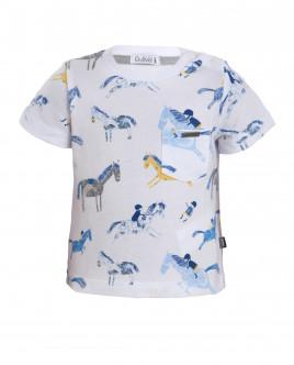 Белая футболка с орнаментом Наездник Gulliver OUTLET