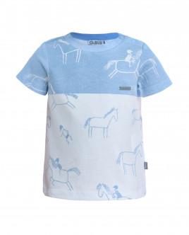 Двухцветная футболка с принтом OUTLET