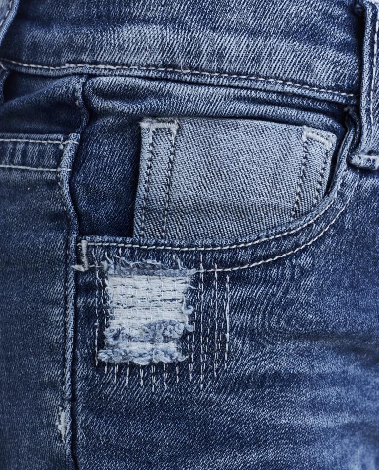 Синие джинсы на подкладке