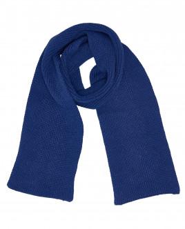 Синий вязаный шарф OUTLET