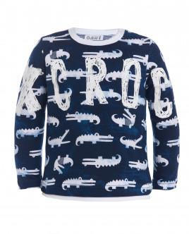 Синяя футболка с орнаментом Аллигатор Gulliver OUTLET