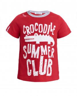 Красная футболка с принтом OUTLET
