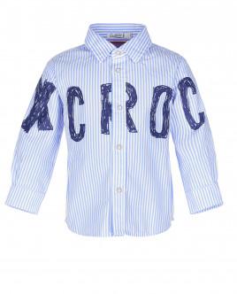 Полосатая рубашка с принтом OUTLET