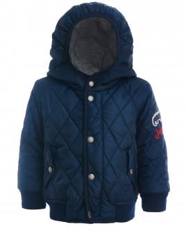 Синяя стеганая куртка-бомбер OUTLET