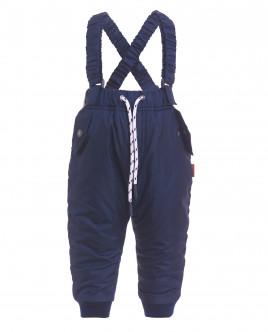 Синие утепленные демисезонные брюки OUTLET