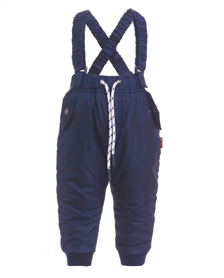Синие утепленные демисезонные брюки