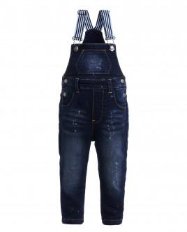 Трикотажный джинсовый полукомбинезон Gulliver OUTLET