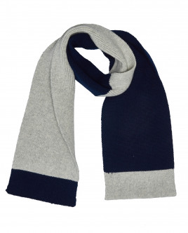 Two color knitted scarf Gulliver