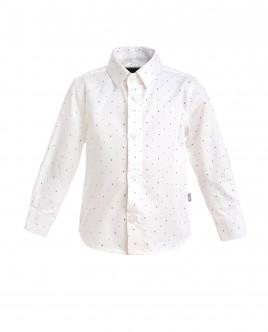Белая рубашка в горошек Gulliver OUTLET