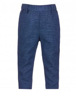 Синие льняные брюки OUTLET