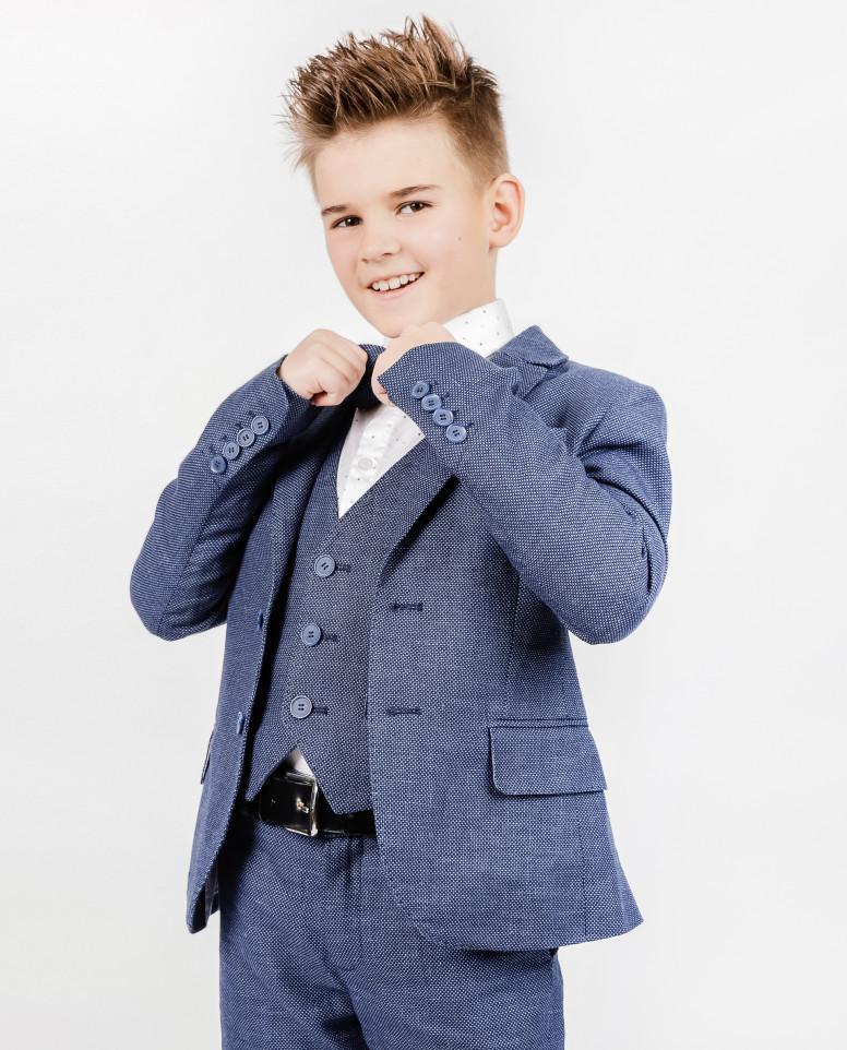 Синий нарядный пиджак