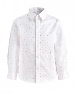 Белая рубашка в горошек OUTLET