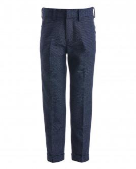 Синие зауженные брюки с манжетами OUTLET