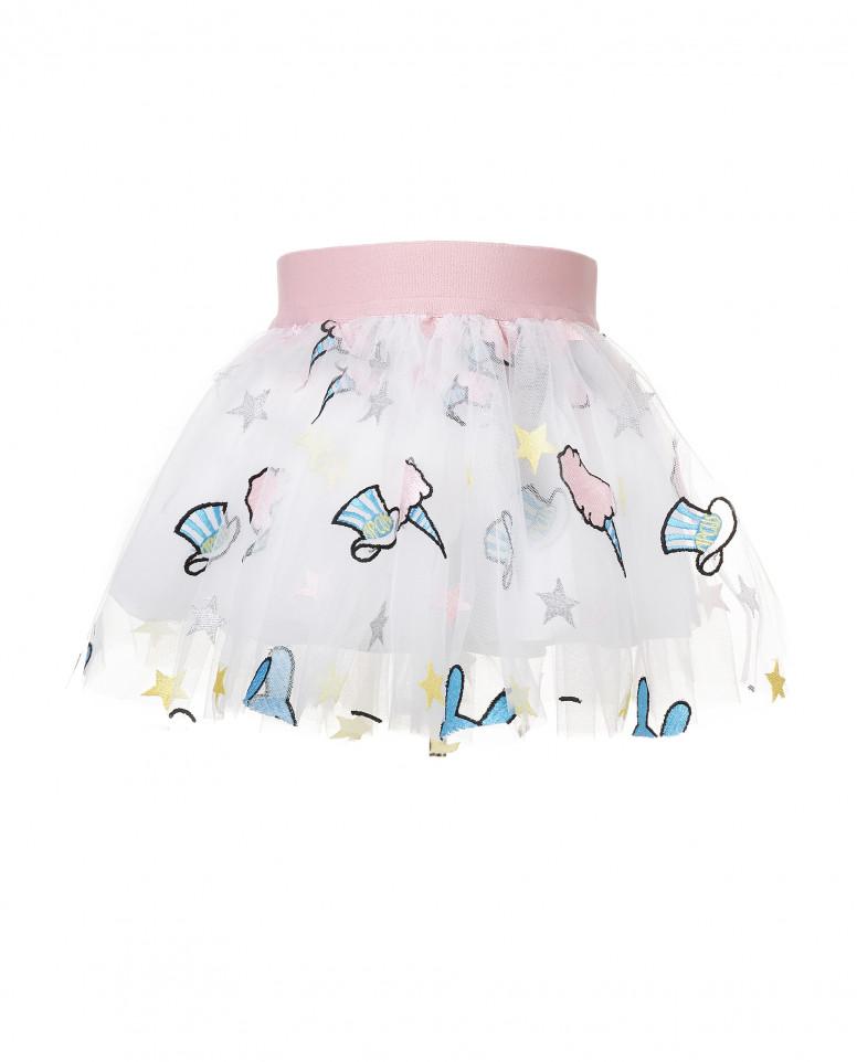 Пышная юбка с нашивками