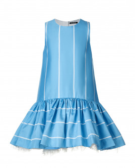 Бирюзовое платье в полоску Gulliver OUTLET