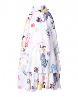 Белое платье с орнаментом Magic Show OUTLET