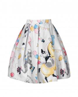 Белая юбка с орнаментом Magic Show OUTLET