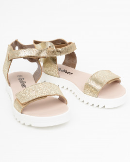 Перламутровые кожаные сандалии