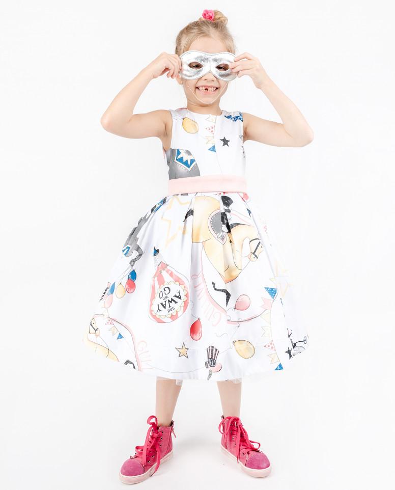Белое платье с орнаментом Magic Show