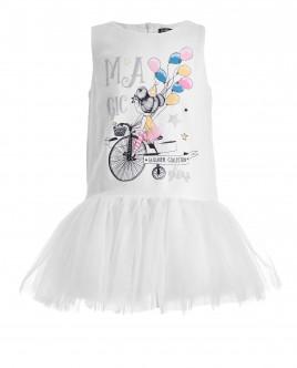 Нарядное платье с юбкой из сетки OUTLET