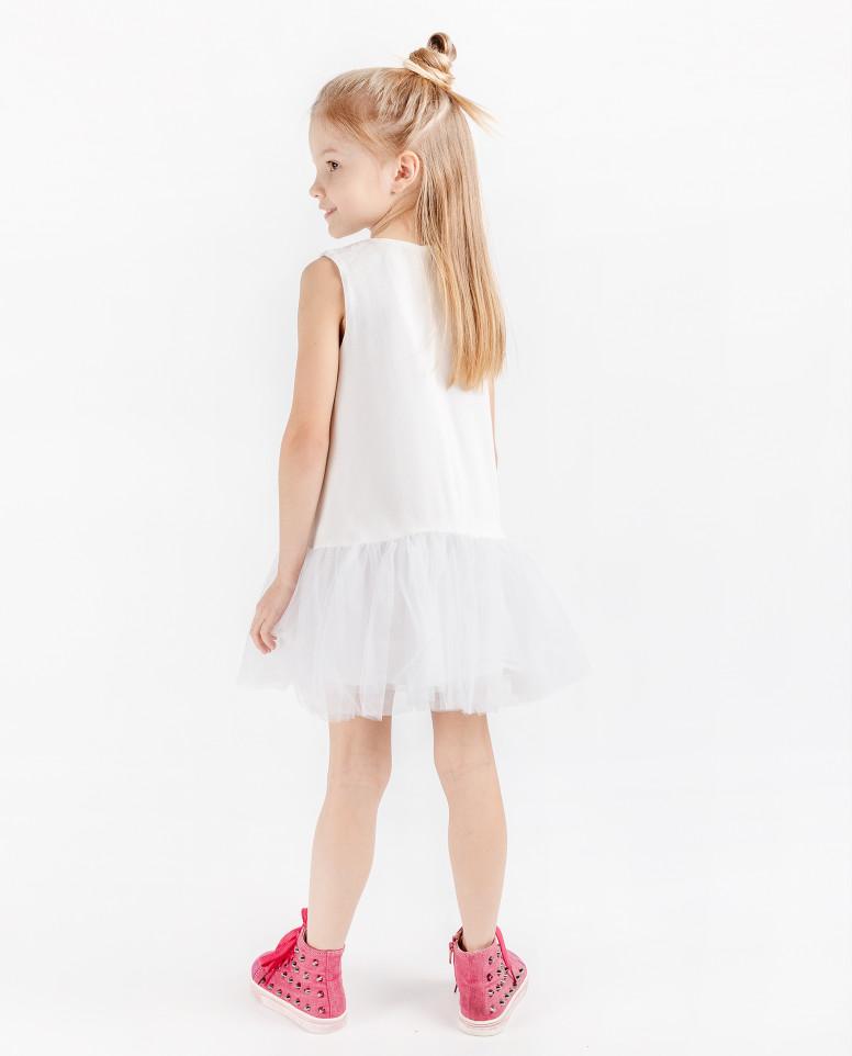 Нарядное платье с юбкой из сетки