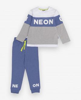 Купить 12000BC9702, Пижама с брюками, Gulliver Wear, синий, 134-140, Мужской