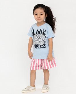Голубая футболка с коротким рукавом Gulliver