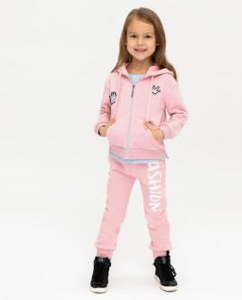 Купить 12001GMC1606, Розовая толстовка с капюшоном, Gulliver Wear, розовый, 110, Женский