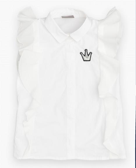 Белая блузка с коротким рукавом Gulliver