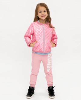 Купить со скидкой Розовая демисезонная куртка