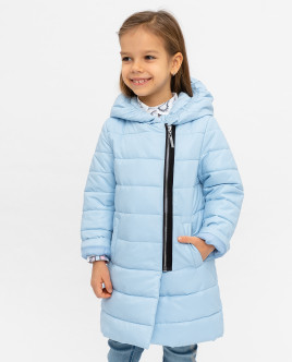 Голубое демисезонное пальто