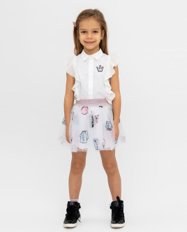 White printed skirt Gulliver