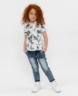 White printed polo shirt Gulliver