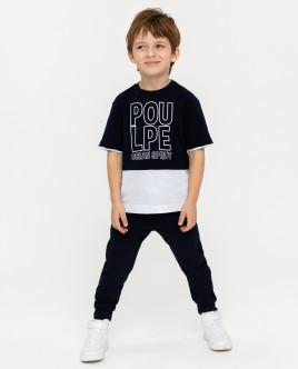 Двухцветная футболка с принтом 12004BMC1201 фото