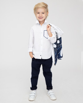 Белая рубашка с принтом Gulliver Gulliver