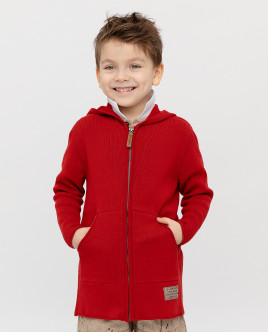 Red hooded cardigan Gulliver