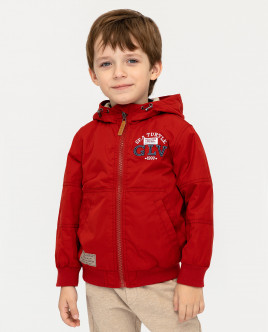 Red mid-season jacket Gulliver
