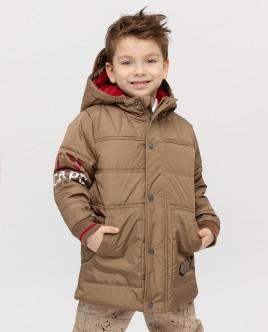 Бежевая утепленная куртка Gulliver
