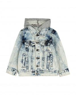 Купить 12005BMC4201, Джинсовая куртка с капюшоном, Gulliver Wear, голубой, 128, Мужской