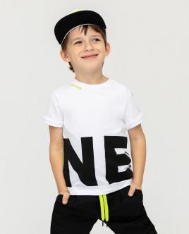 Купить со скидкой Белая футболка с принтом