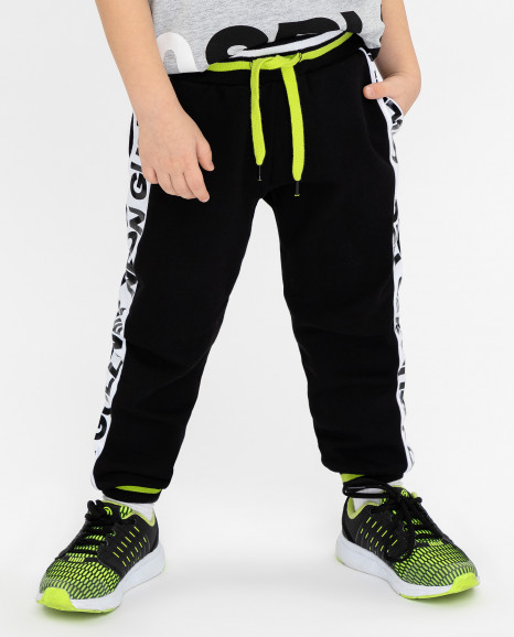 Черный брюки с лампасами