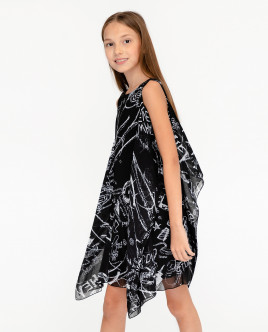 Black printed dress Gulliver