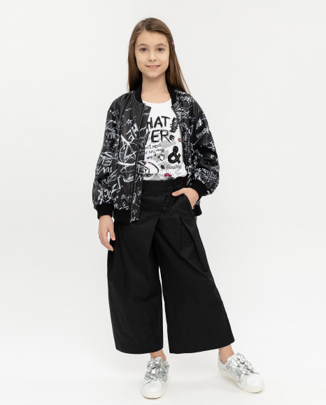 Черные брюки-кюлоты