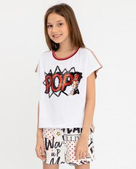 Двухцветная футболка с принтом Gulliver Gulliver