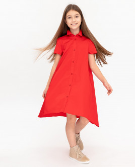 Red dress with elongated back Gulliver