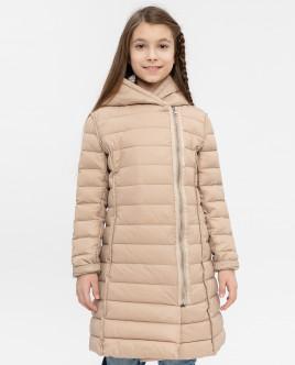 Бежевое демисезонное пальто