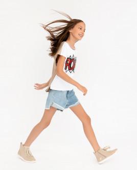 Комплект из джинсовых шорт и платка Gulliver