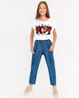 Брюки из джинсовой ткани